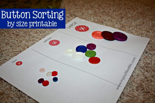 Button Sorting Size