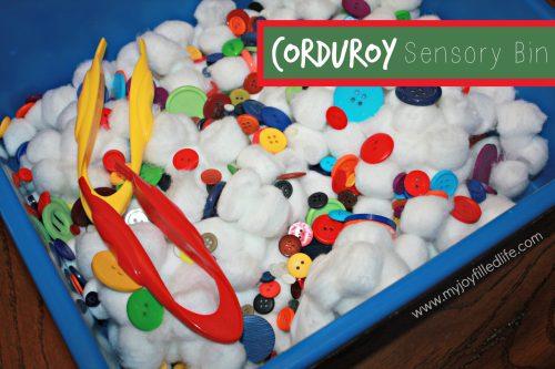 Corduroy Sensory Bin