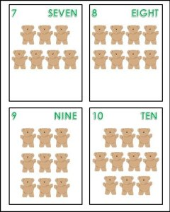 Counting Bear Cards