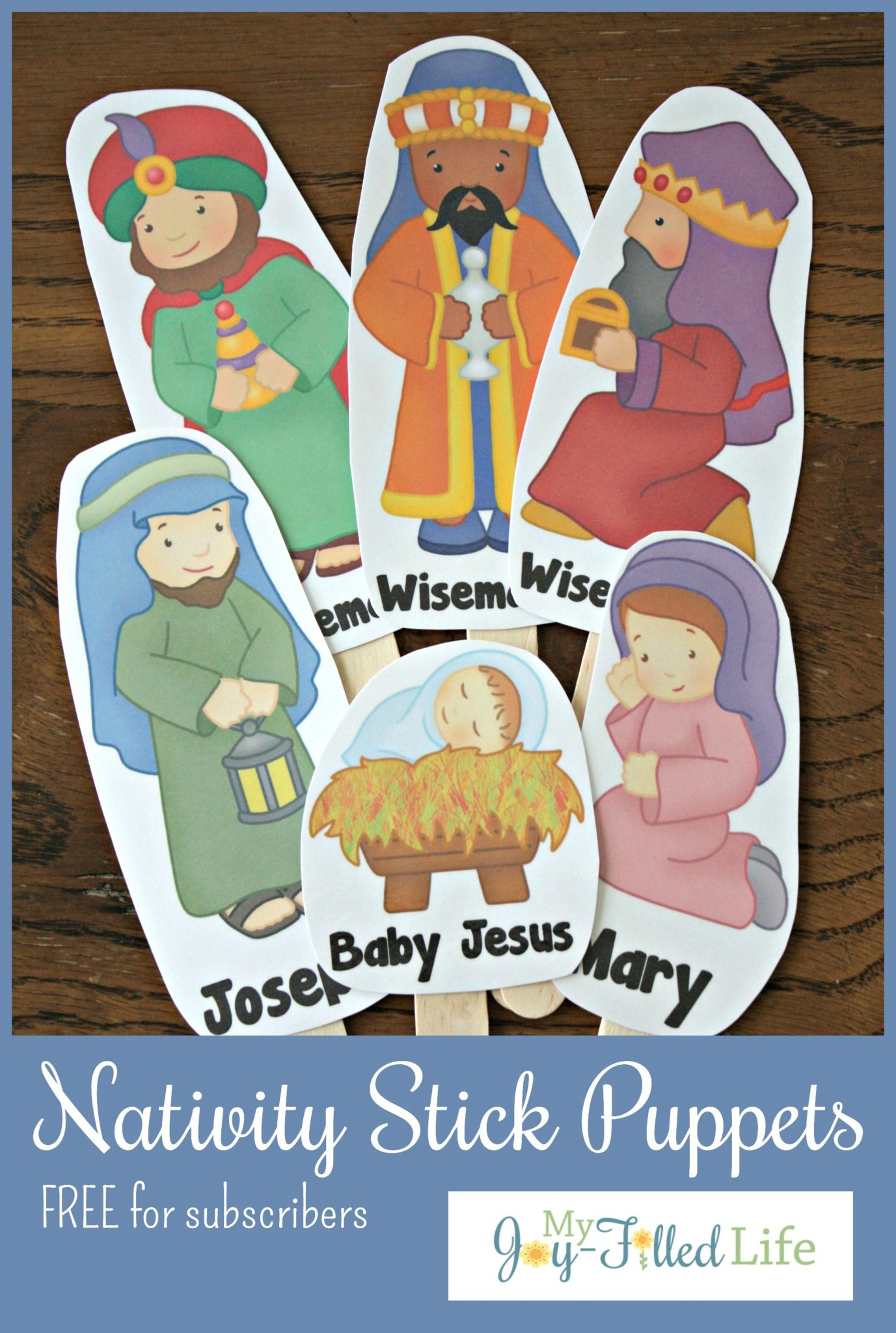 Free Printable Nativity Stick Puppets