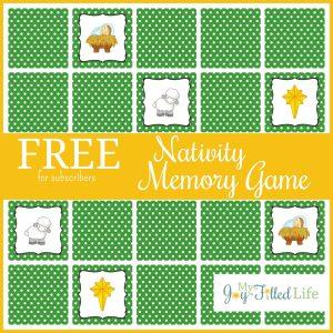 FREE Printable Nativity Memory Game