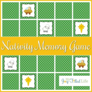 Printable Nativity Memory Game