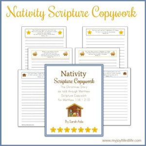 Nativity Scripture Copywork