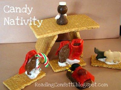candy nativity