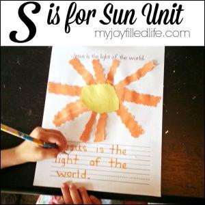 Kindergarten Sun Unit Activities
