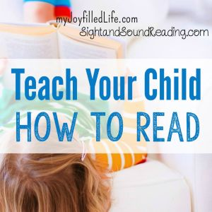 Teach Your Child How to Read