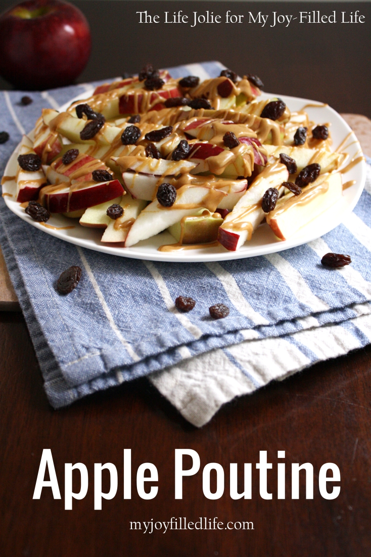 Apple Poutine is such a fun way to make a snack with familiar foods even more fun for your kids! It was super easy to make and the gobbled it up. I'll definitely be making this again!