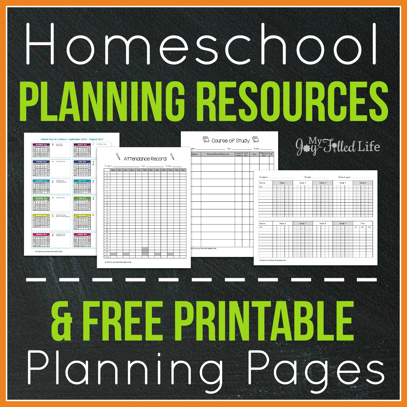 Top Homeschool Planning Resources Amp Free Printable
