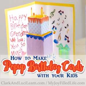 How to Make Popup Birthday Cards with Your Kids