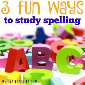 3 Fun Ways to Study Spelling