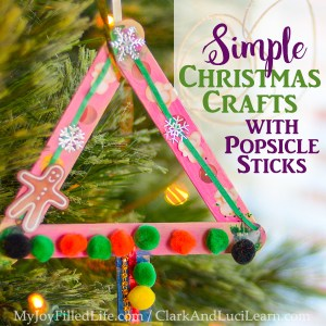 Simple Christmas Crafts with Popsicle Sticks