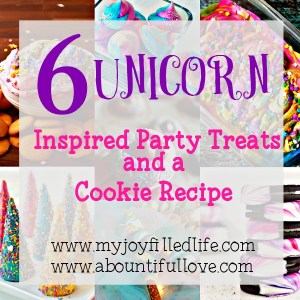 6 Unicorn Inspired Party Treats and a Cookie Recipe