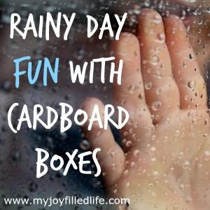 Cardboard Inspiration for Rainy Days