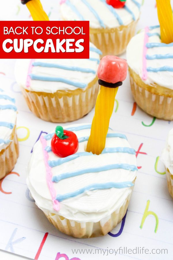 Celebrate Back to School time with these adorable, easy to make cupcakes!