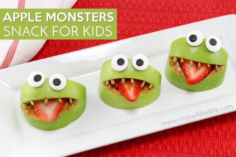 Apple Monsters Snack for Kids