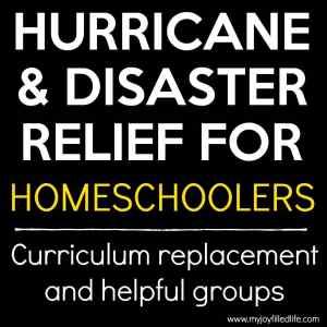 Hurricane Relief for Homeschoolers