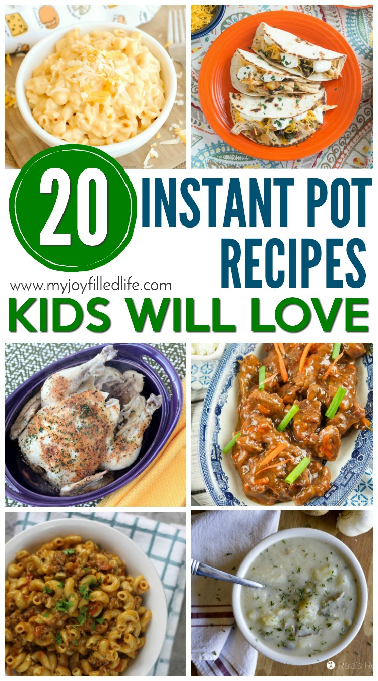Instant Pot Recipes Kids Will Love - If you have kids and an instant pot, these are recipes you'll want to try!
