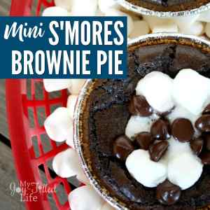 Mini S'mores Brownie Pie