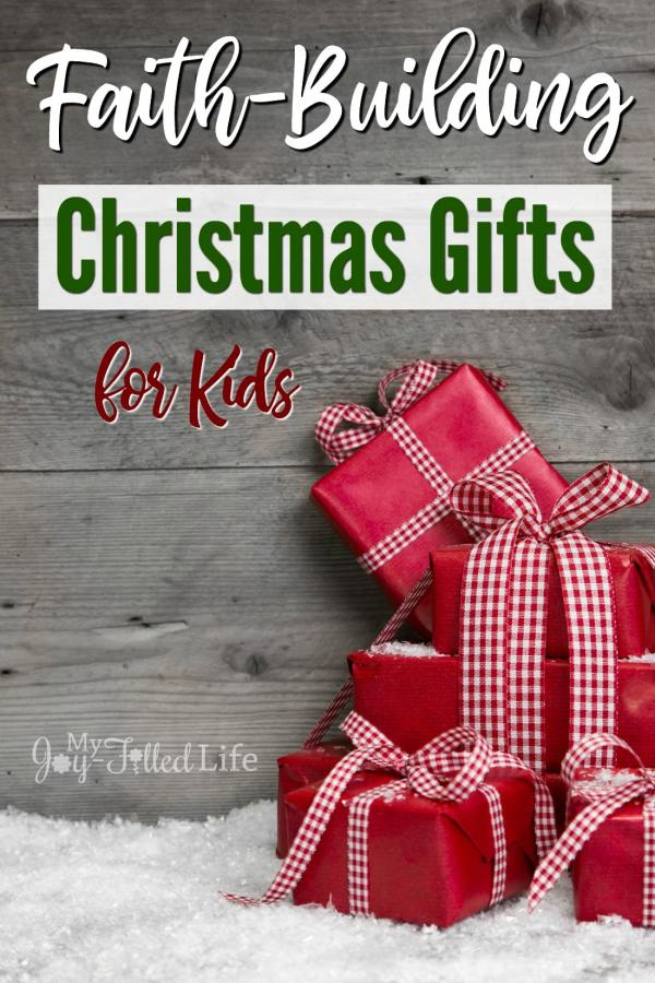 It can be a struggle to find faith-based gifts, so here is a list that will help and inspire you to find faith-building gifts for kids on your list.