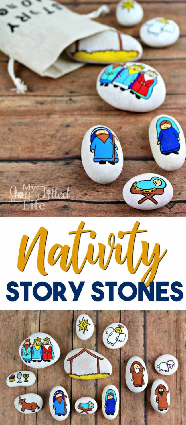 Nativity story stones help to keep Christ at the center of Christmas - use them as story props or as a simple nativity scene, or even as a gift.