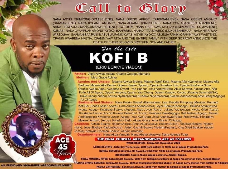 Kofi B to be finally laid to rest today 1