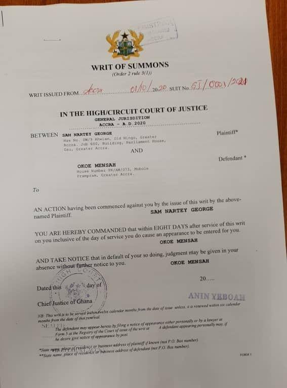 NDC suspends Ningo Prampram constituency secretary for making allegations against Sam George 2
