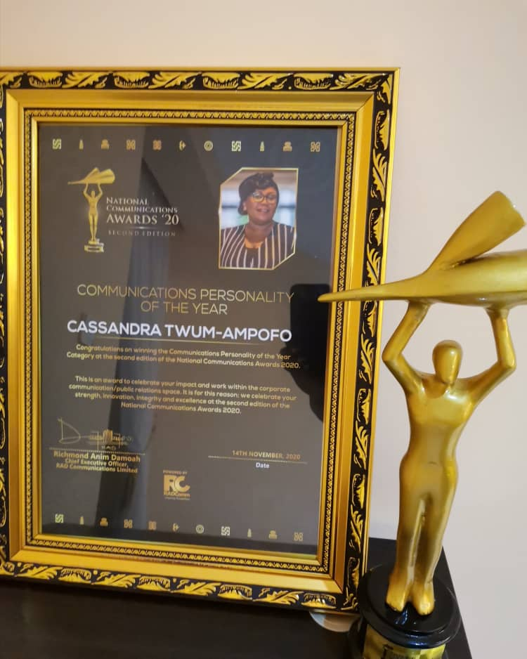 GES PRO, Cassandra Twum-Ampofo adjudged 2020 Communications Personality of the Year 1