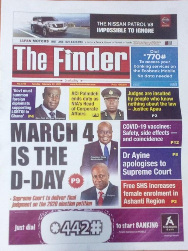 Newspaper headlines of Tuesday, February 23, 2021 15