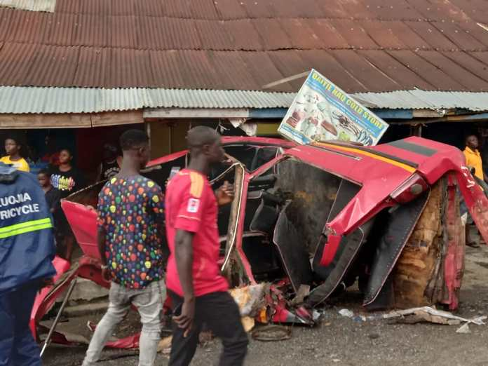 One dead, 19 others including a pregnant woman injured in car crash at Adeiso