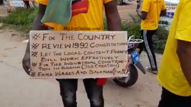 'We're tired of directionless leadership' - #FixTheCountry protester