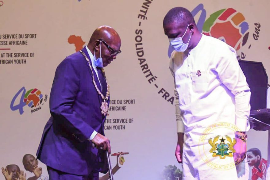 Sports Minister honoured by Association of National Olympic Committees of Africa