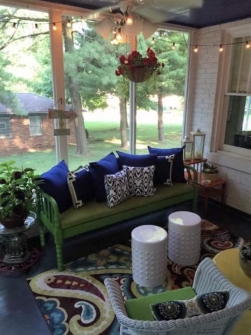 Decorated porch oasis