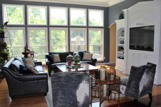 St. Charles living room suited for family with pets.