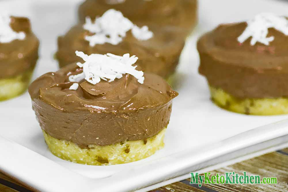 Sugar Free Chocolate Coconut Cheesecakes