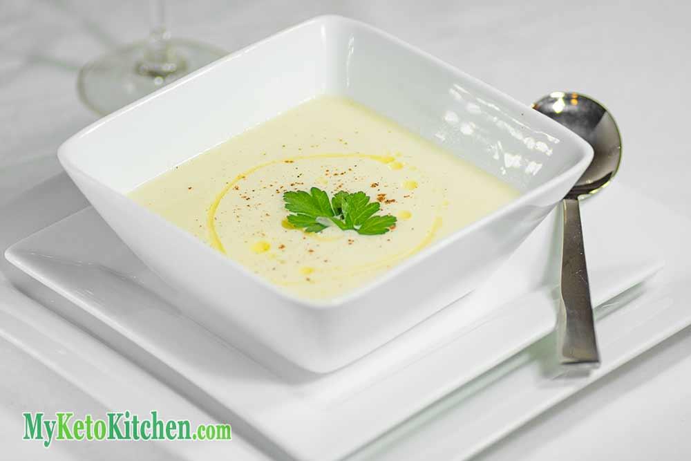 Low Carb Keto Vegetables Creamy Cauliflower Soup