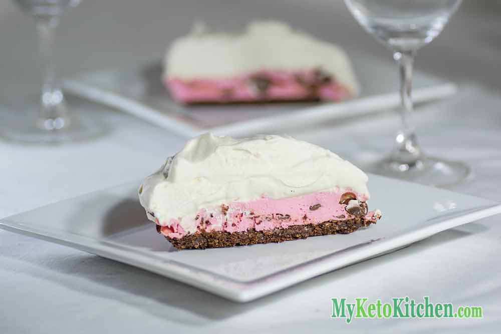 raspberry cream pie keto style low carb
