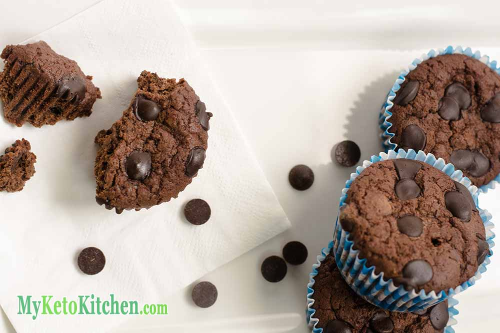 Low Carb Double Chocolate Fudge Muffins