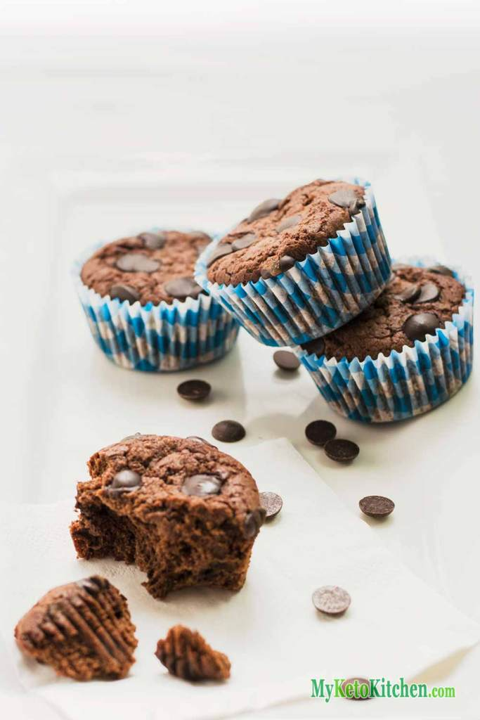 Double Chocolate Fudge Keto Muffins