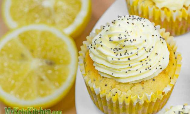 Low Carb Lemon Poppy Seed Cupcakes – EASY Homemade Recipe