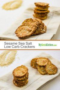 Sesame Sea Salt Low Carb Crackers