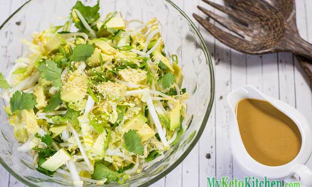 Easy Low Carb Salad with Peanut Dressing Recipe