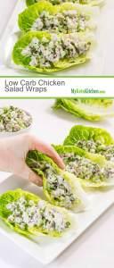 Low Carb Chicken Salad Wraps (Keto, Gluten Free, Dairy Free)