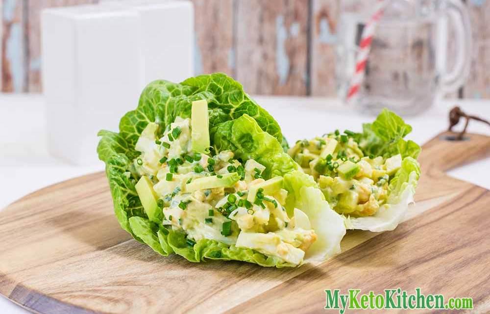 Keto Egg Salad Wraps with Avocado – Healthy Fats & Potassium