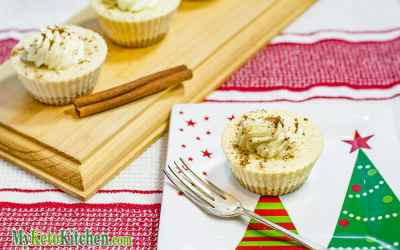 How to Make Low Carb Eggnog Cheesecakes