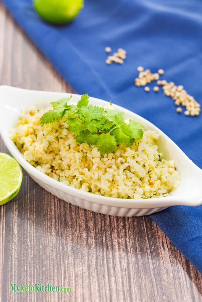 Low Carb Lime & Cilantro Cauliflower Rice