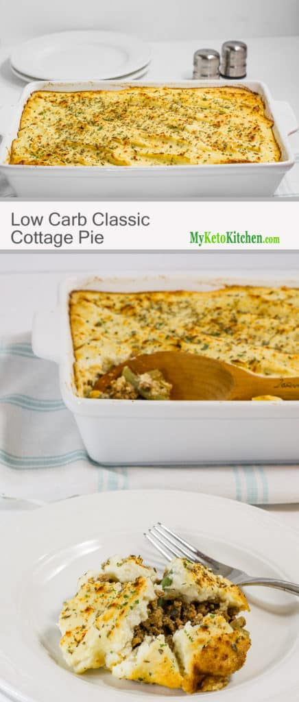 Low Carb Classic Beef Cottage Pie (Gluten Free, Grain Free, Keto)