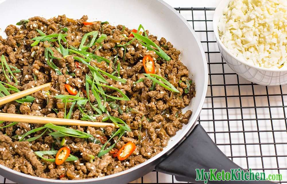 Keto Ground Beef Recipe – Sticky Korean Stir Fry
