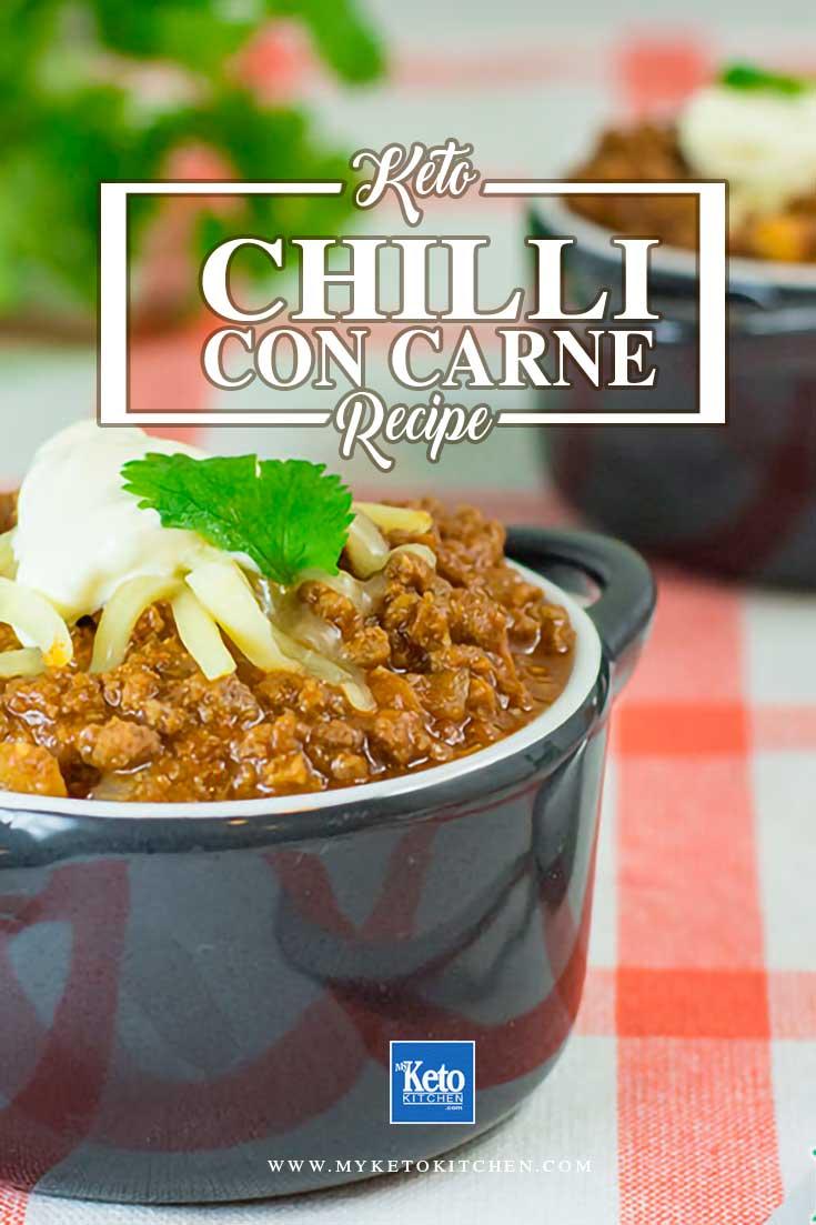 Keto Chili con carne recipe