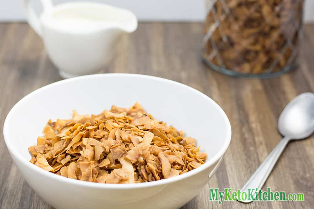 Low-Carb Breakfast Cereal Coconut Frosted Flakes