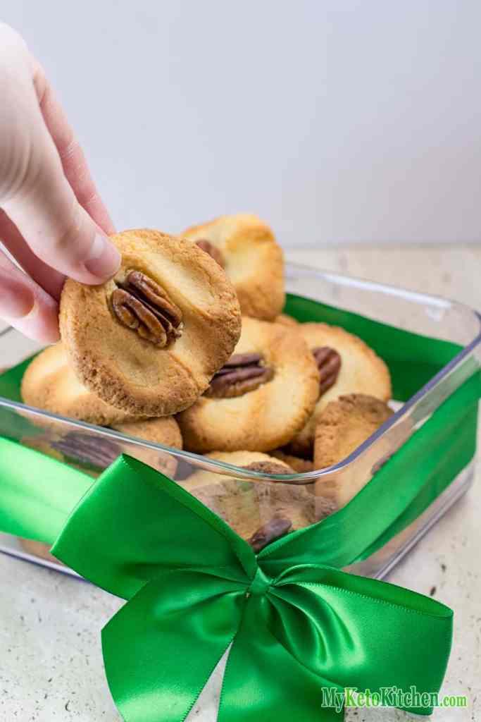 Low Carb Pecan Cookies Fresh Baked